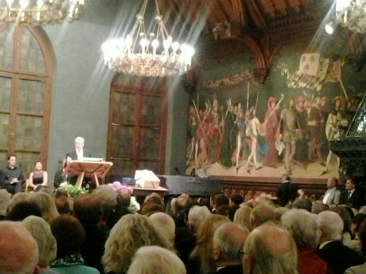 Discours de Josef Deimer dans la Rathausprunksaal