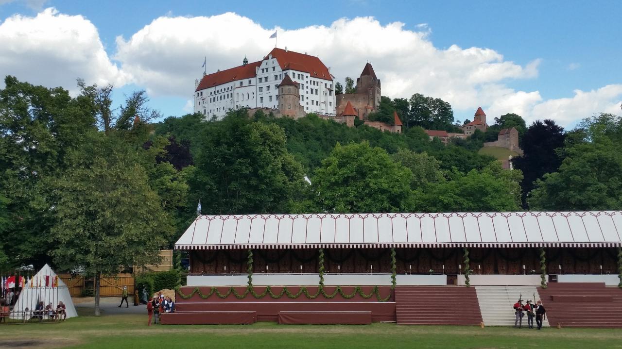 Turnierplatz und Burg Trausnitz