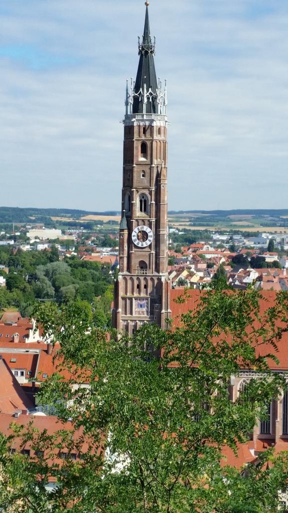 St Martin vu du Burg Trausnitz