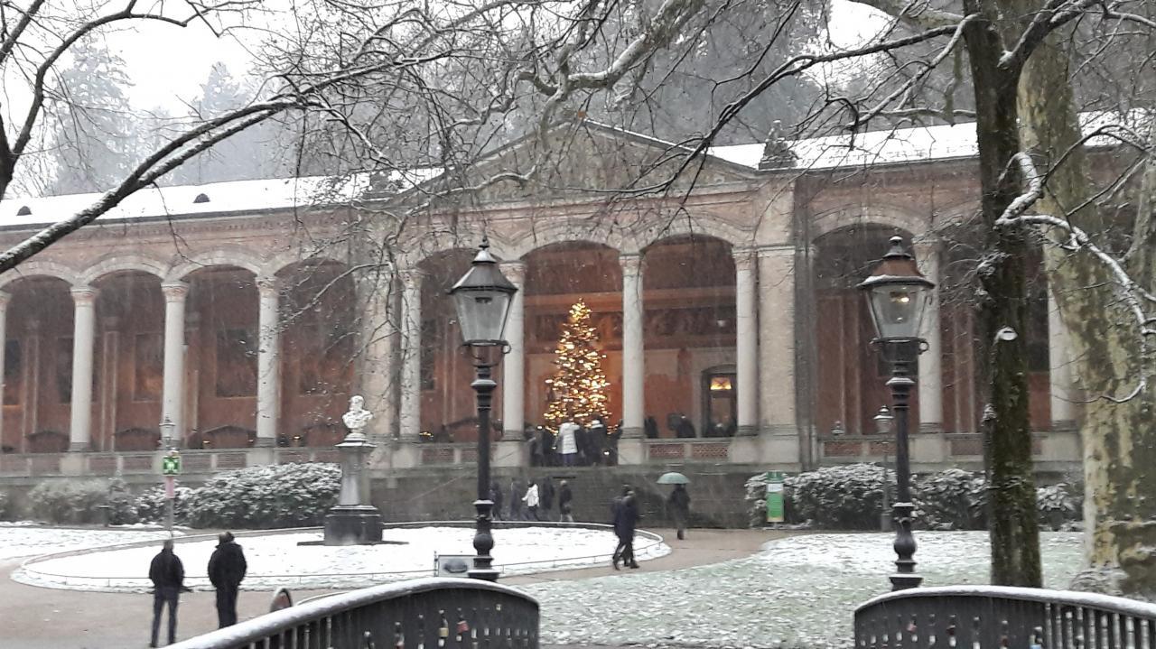 Trinkhalle sous la neige