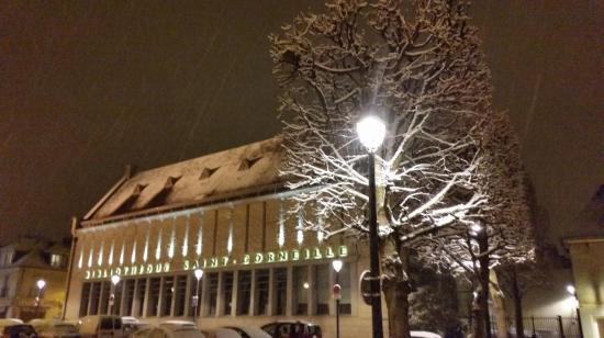 La neige sur la ville