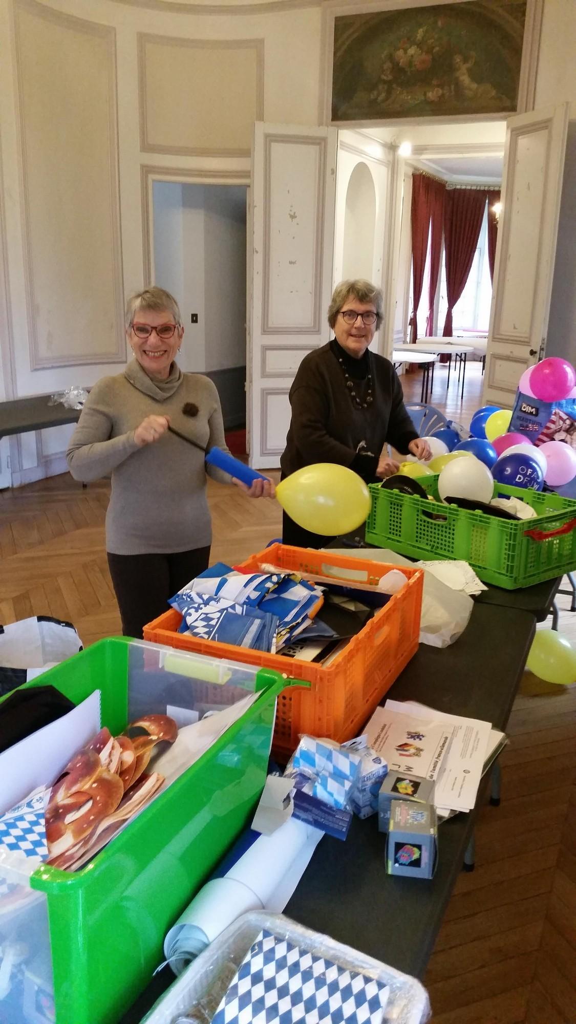 Marie Agnès et Catherine à l'atelier