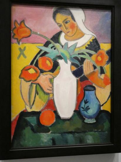 August MACKE : Joueuse de luth