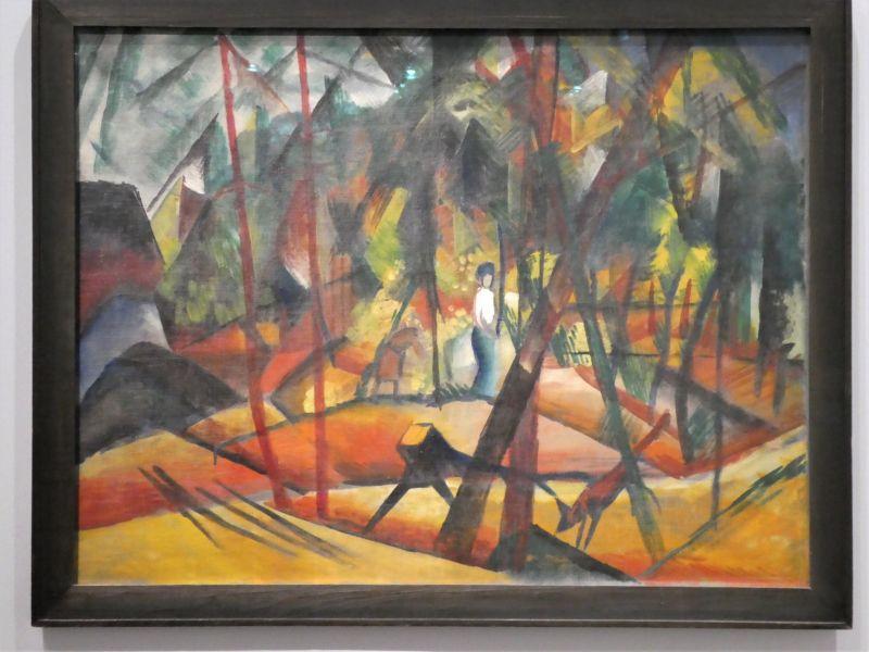 August MACKE : Promenade en forêt
