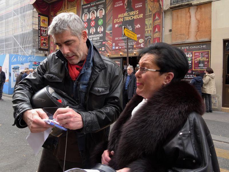 Sylvie et un des acteurs Philippe Maymat