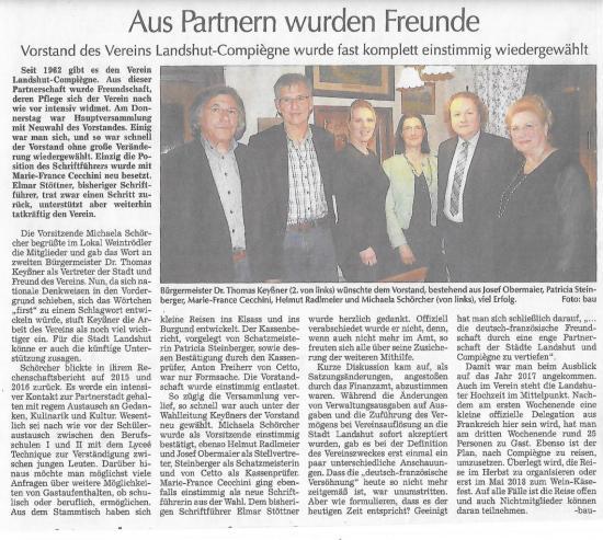 Article du Landshuter Zeitung