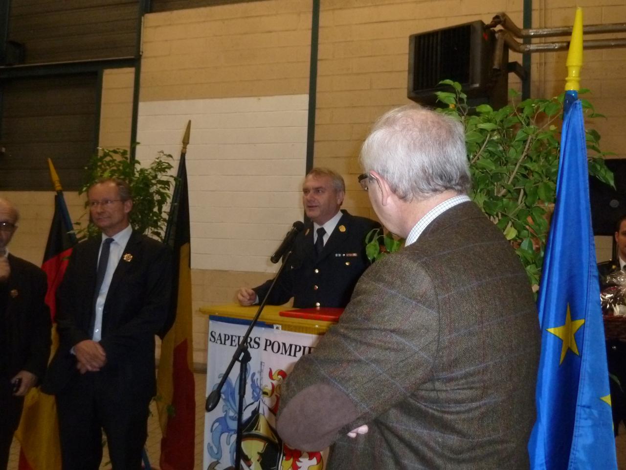 Dicours du Chef de Centre de la caserne de Landshut Mr Erich Gahr