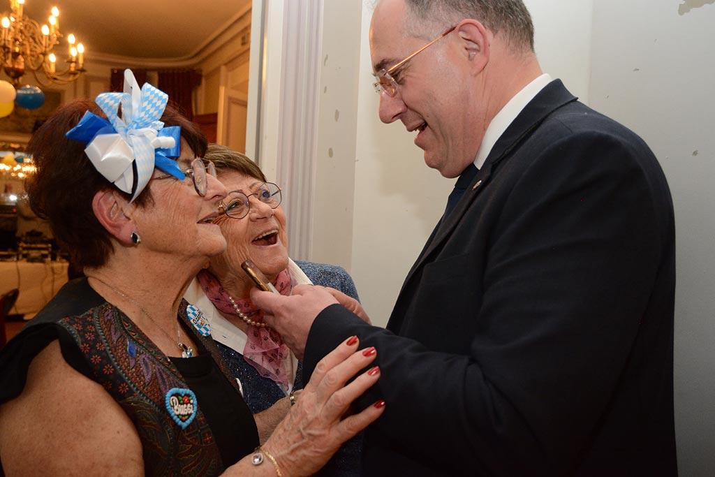 Michèle et le député Pierre Vatin