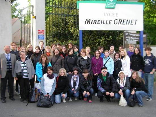 Le groupe de la Berufschule II au lycée Mireille Grenet