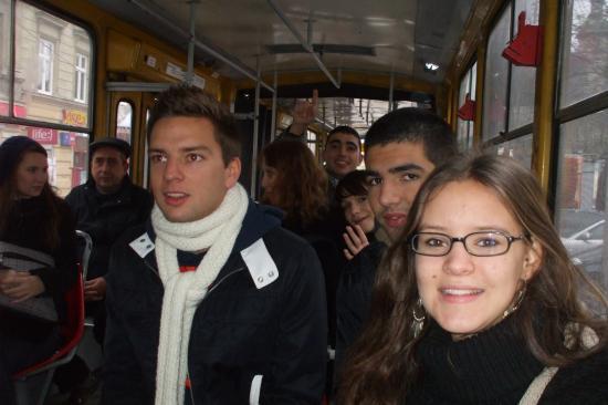 Dans le bus, une partie du groupe.