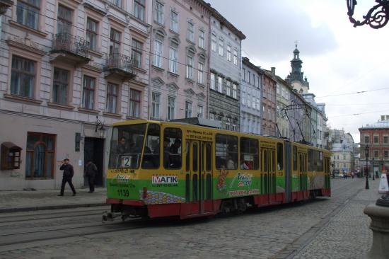 Le tramway à Lviv.