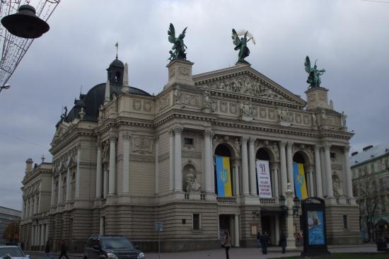 L'opéra de Lviv.