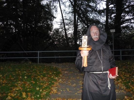 Franciscain pestiféré en isolement sur son ile sur la Lahn