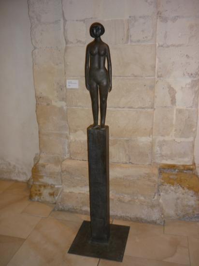 Statue de Karl Riedel Kleine Akstele Bronze 1951