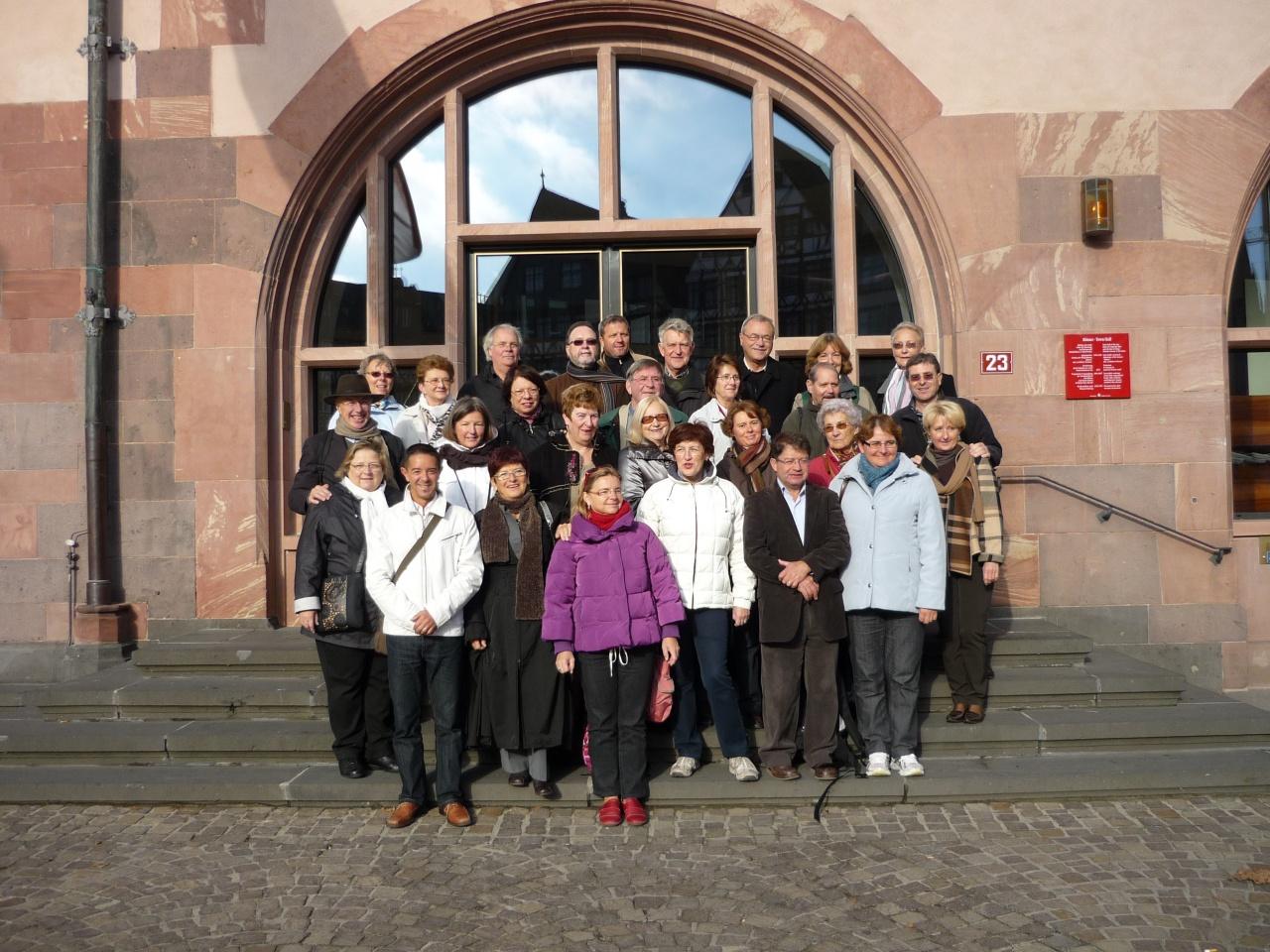 Le groupe prêt pour la visite de Francfort