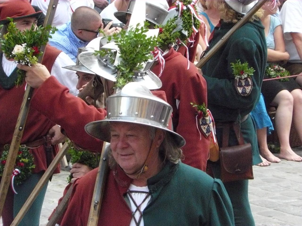 Hochzeitszug le casque type de Landshut emblême de la ville