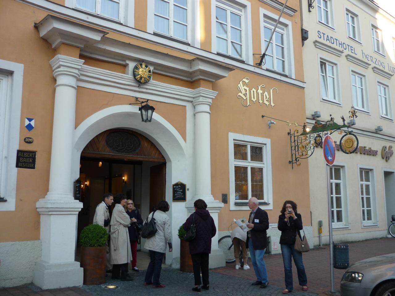 Le groupe prêt à découvrir Landshut