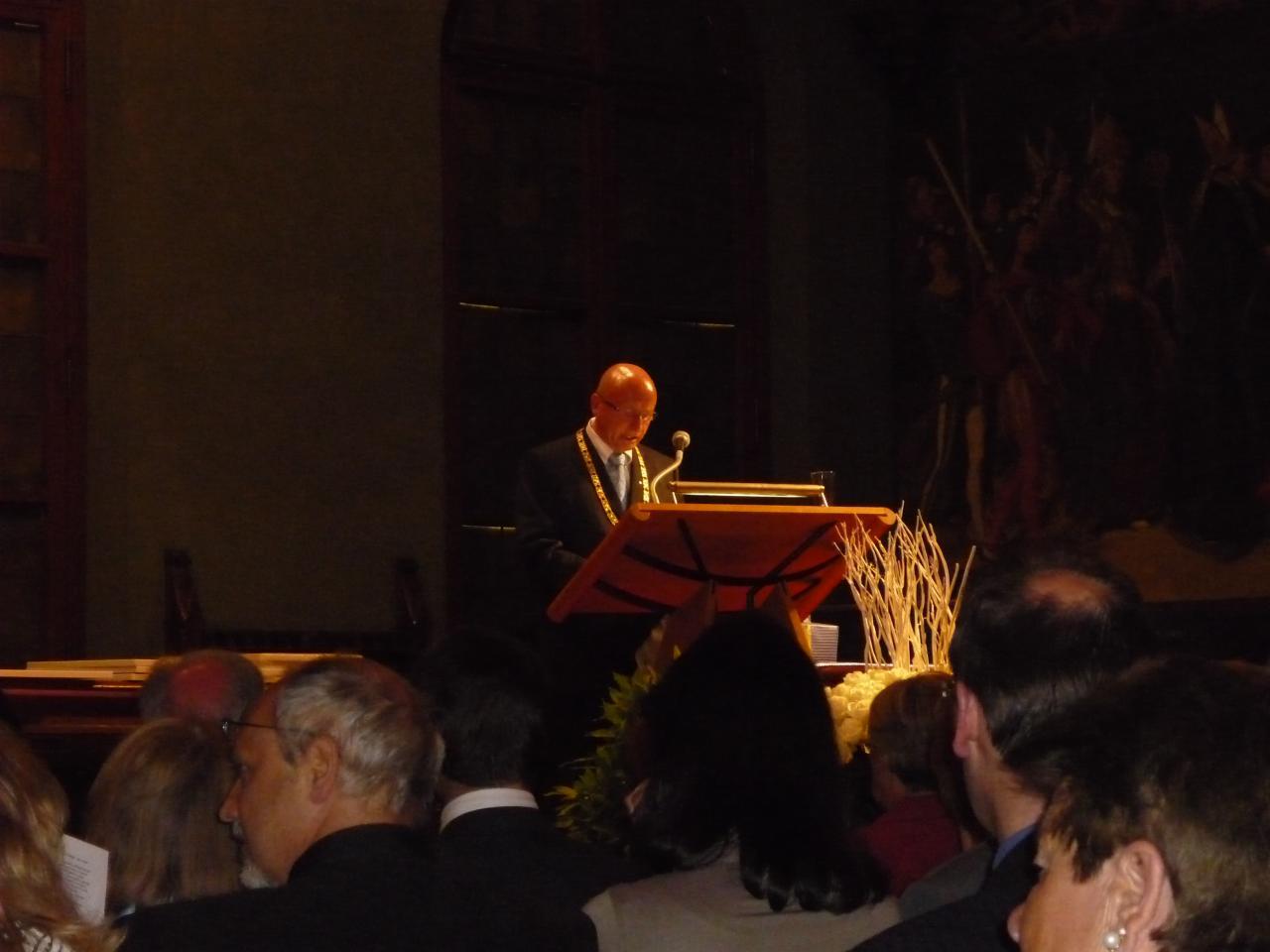 Discours du maire de Landshut Herr Rampf