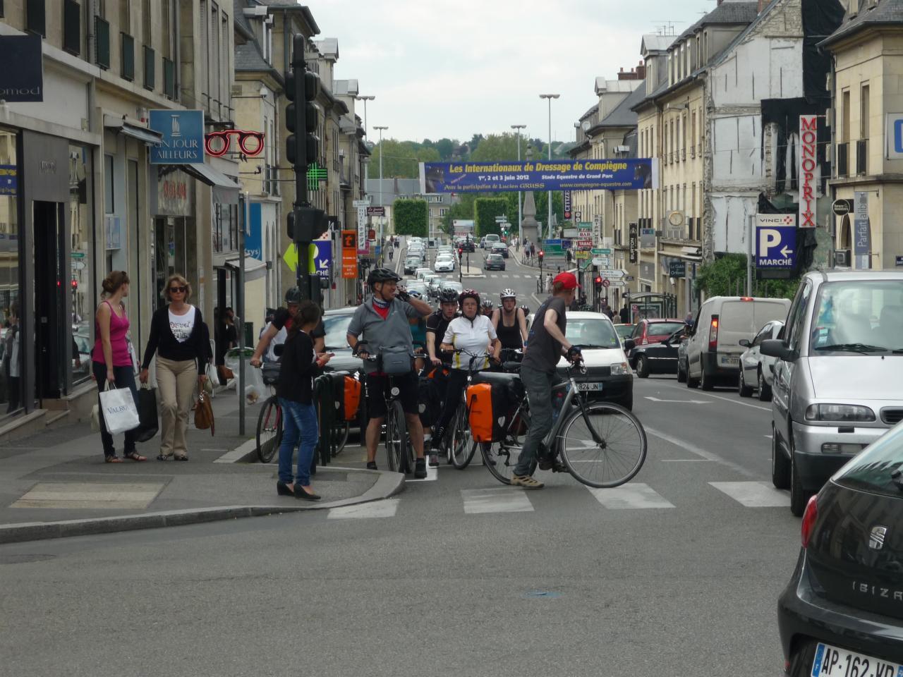 Arrivée à Compiègne