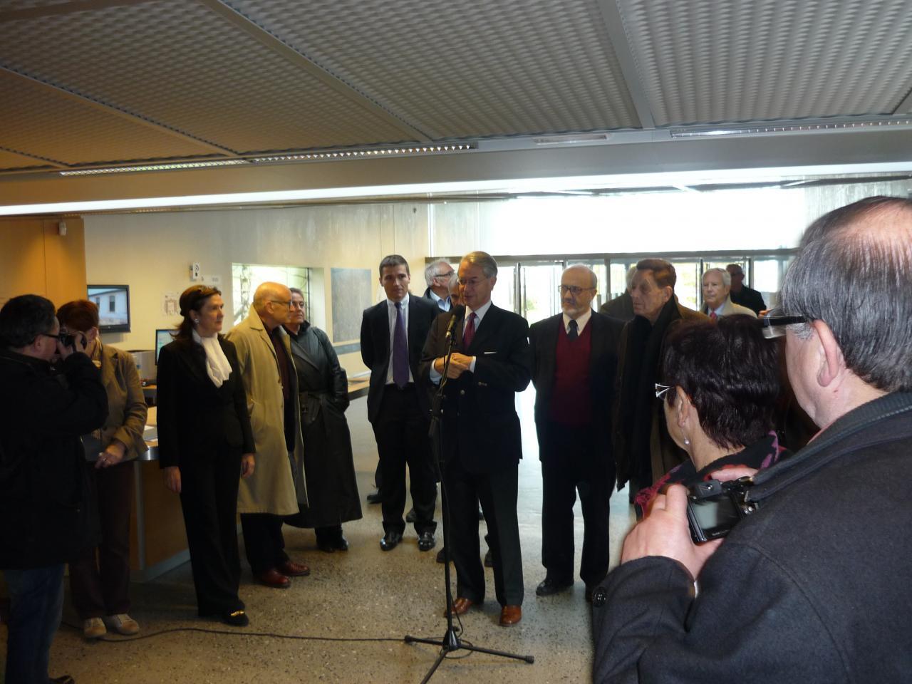 Inauguration en présence de Philippe Marini et Volker Schlöndorff