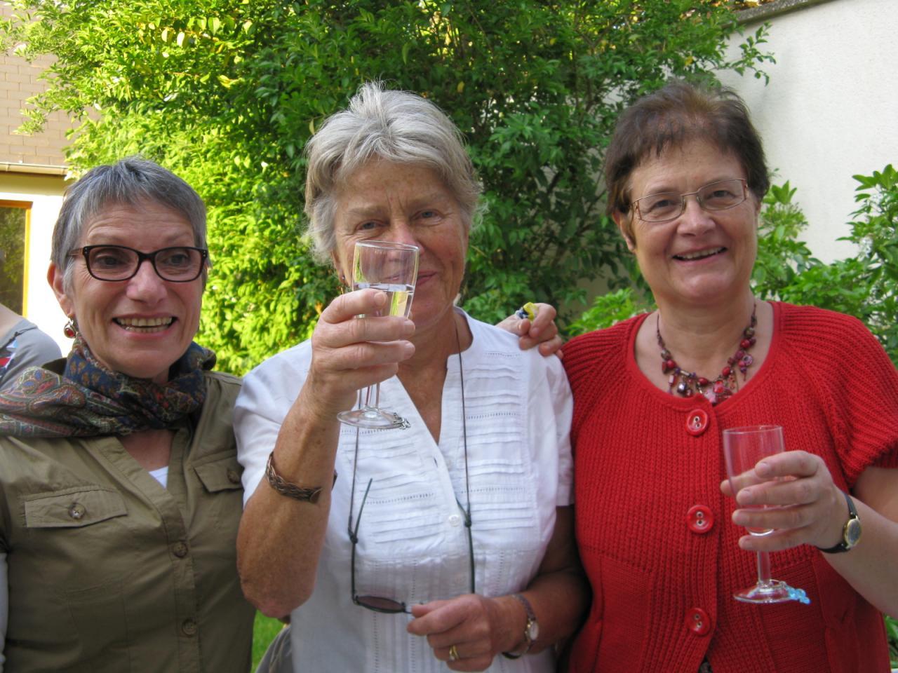 Marie Agnès, Elke et Martine