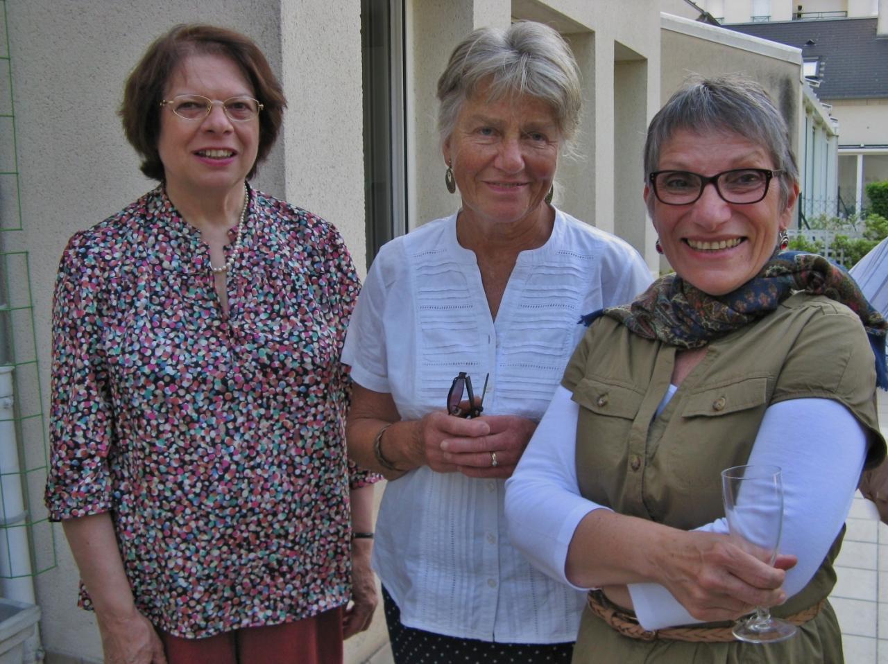 Marie Christine, Elke et Marie Agnès