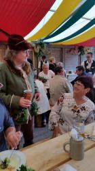 Helmut et Michèle sous la tente Zum Spielmann
