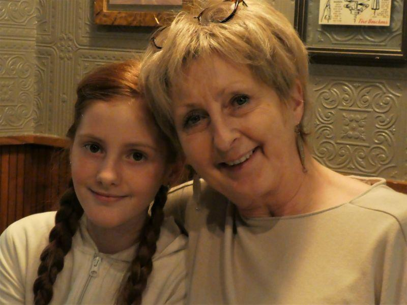 Anne Marie et sa petite fille